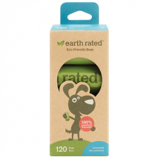 Earth Rated Unscented Poop Bags 8 rolls (120 bags)