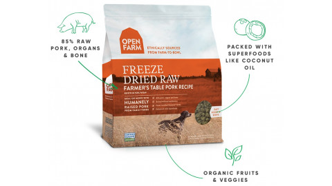 Open Farm Dog Freeze Dried Raw Farmer's Table Pork 13.5 oz