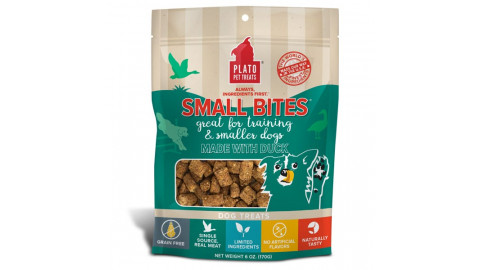 Plato Small Bites Duck Meaty Morsel Dog Treats 6oz